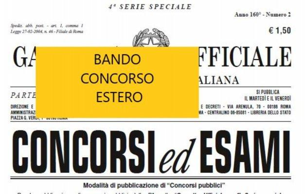 BANDO CONCORSO per ESTERO