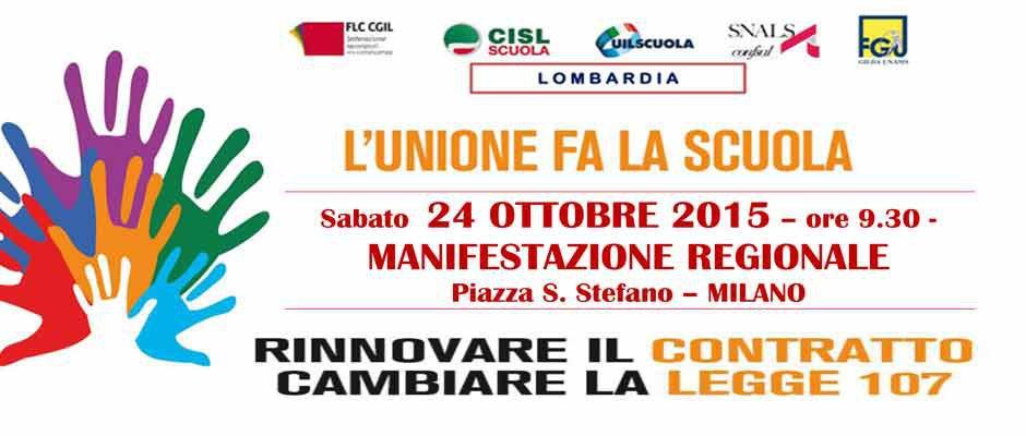Manifestazione: ci troviamo a Milano il 24 ottobre