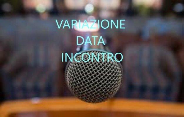 VARIAZIONE DATA INCONTRO 9 MAGGIO