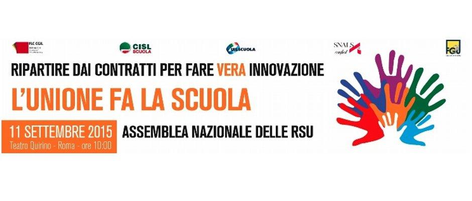 Francesco Scrima conclude l'Assemblea Nazionale unitaria delle RSU - Ripartire dai contratti per fare vera innovazione